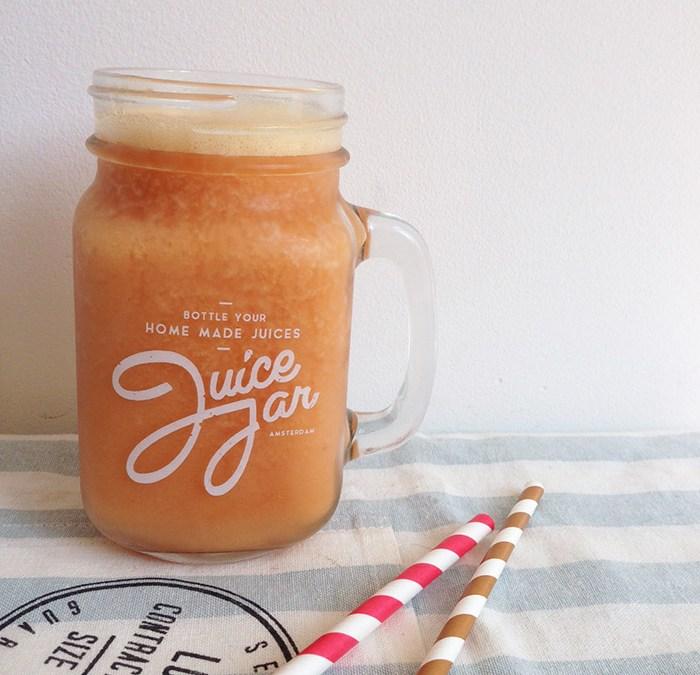perzik-ijsthee smoothie