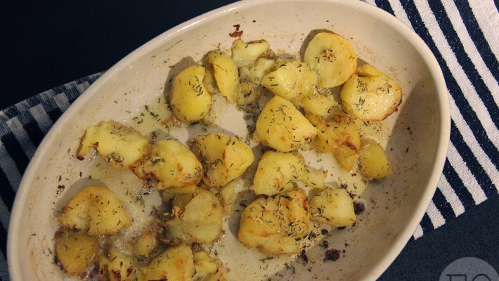 crushed potatoes