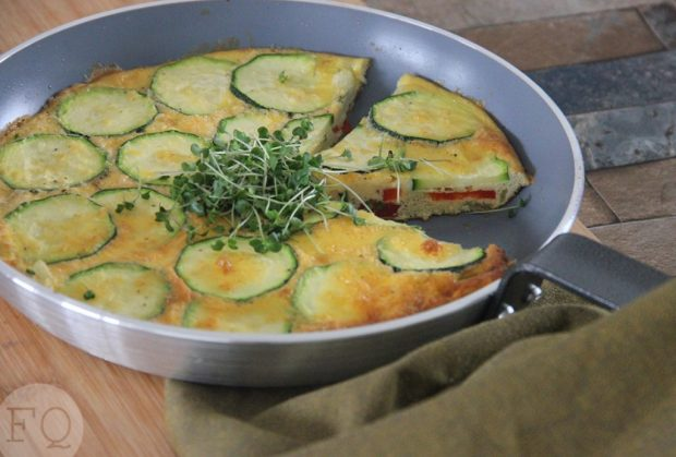 frittata paprika courgette