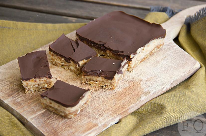 Karamelreep met chocolade -paleo