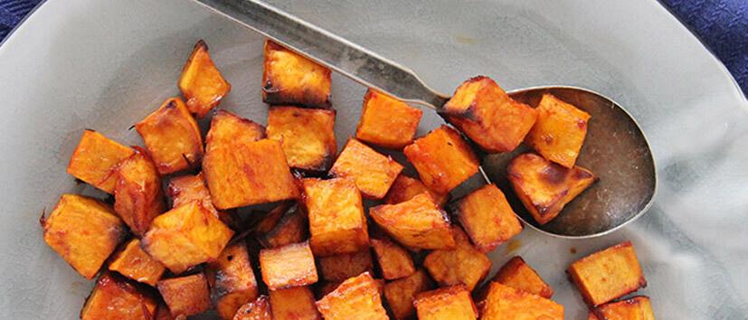 pittige zoete aardappel