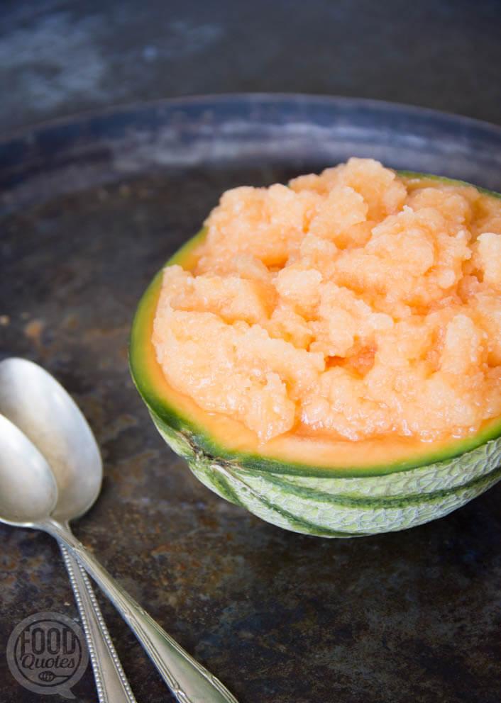 Cantaloupe slush