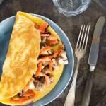 Omelet champignons en zalm