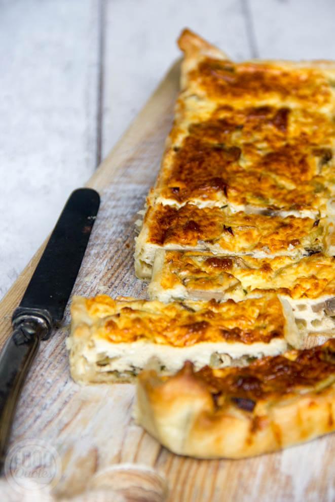 Hartige taart champignons