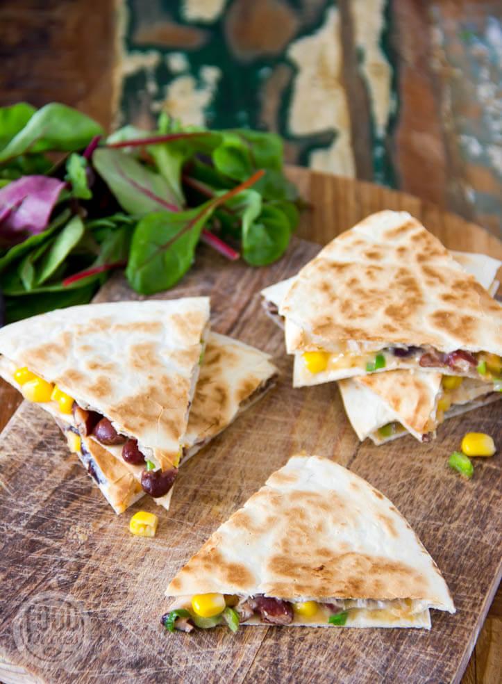 Quesadillas met bonen en kaas