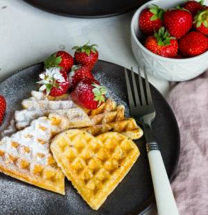 Glutenvrije wafels met Griekse yoghurt
