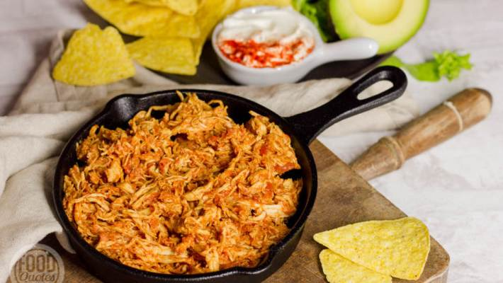Mexicaanse pulled chicken