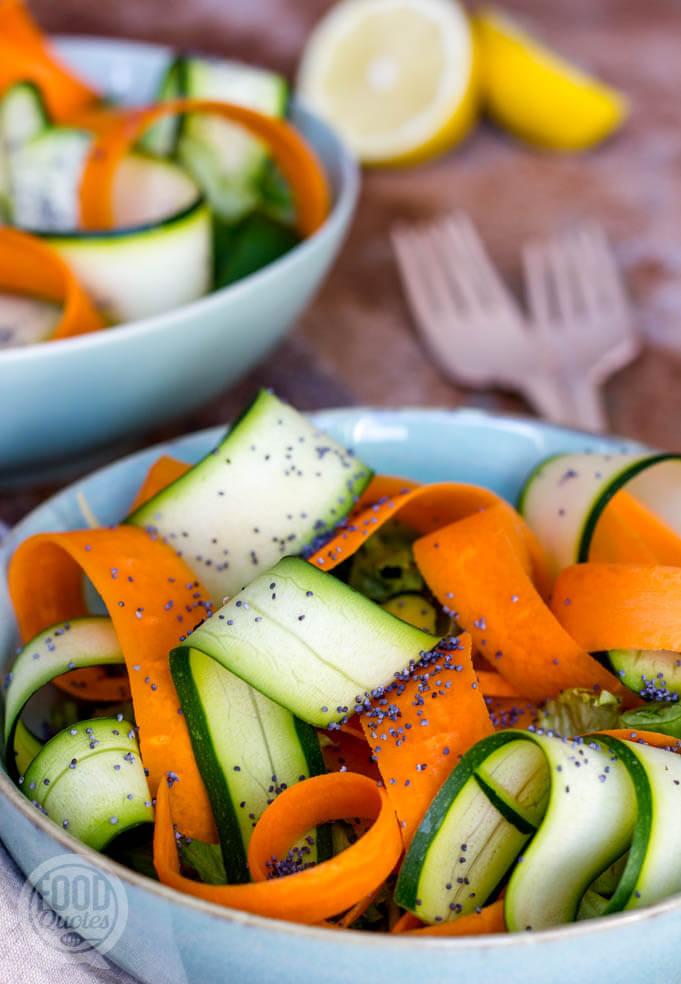 Salade met maanzaad