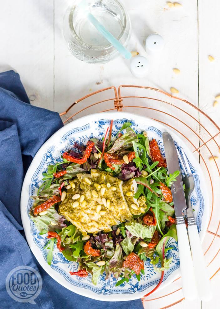 Italiaanse salade met kip