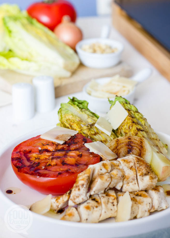 gegrilde salade