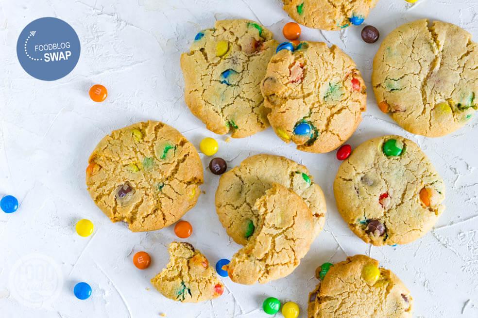 Amerikaanse koekjes met M&M's