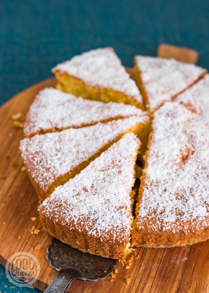 Marokkaanse sinaasappelcake met kokos
