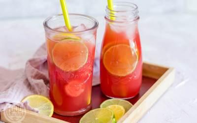 Watermeloen ijsthee