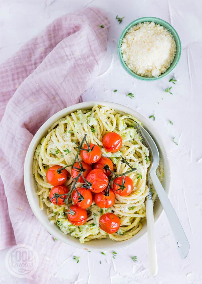 Spaghetti prei-roomsaus