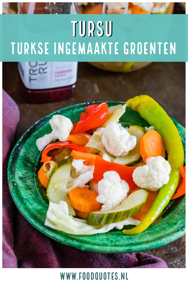 Tursu Turkse ingemaakte groenten