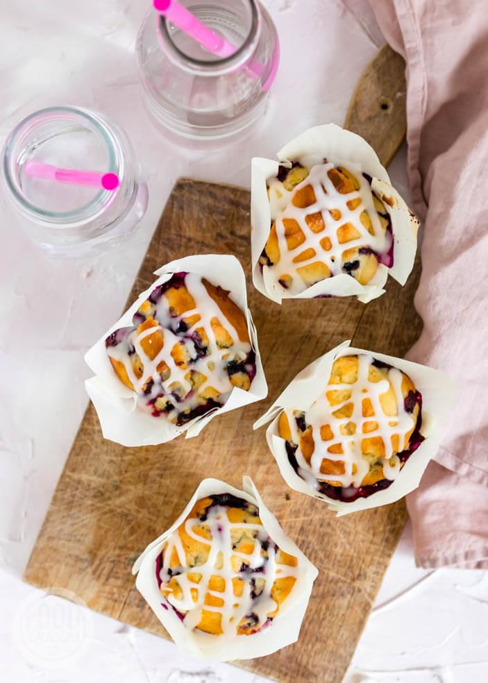 Ontbijtmuffins met blauwe bessen