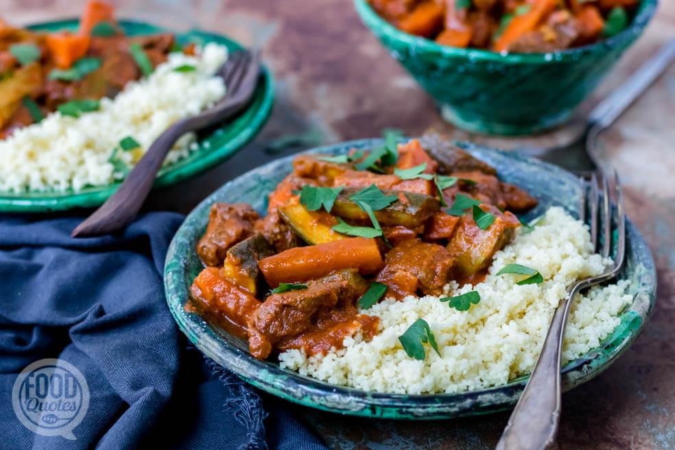 Marokkaans stoofvlees met couscous