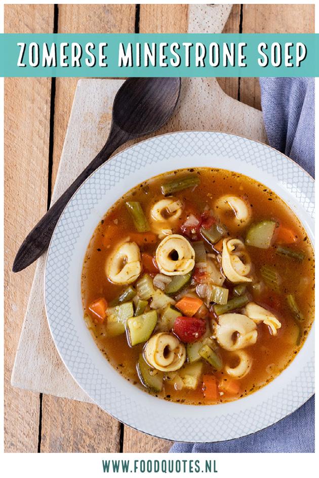 Zomerse minestrone soep
