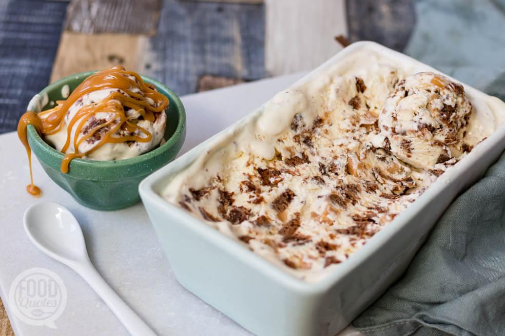 Brownie-karamel ijs