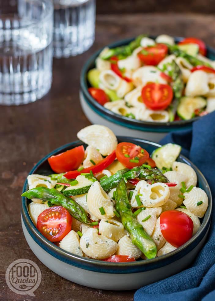 zomerse pastasalade met Boursin