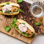 BBQ pulled chicken broodjes