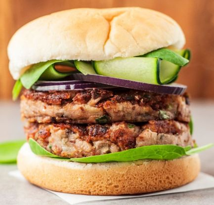 Veggie mushroom burger food recipes
