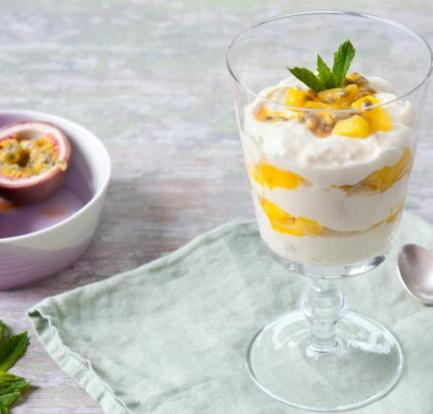 This quick and easy dessert Mango passion with honey: Recipe 3