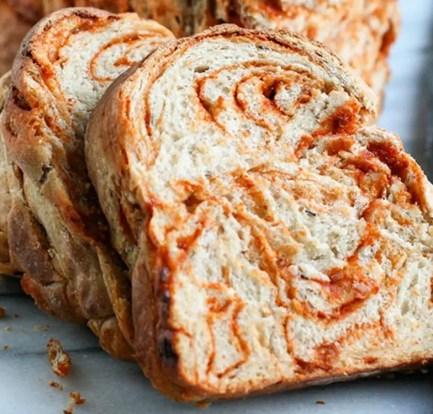 Sun-dried tomato and olive bread: Recipe 6