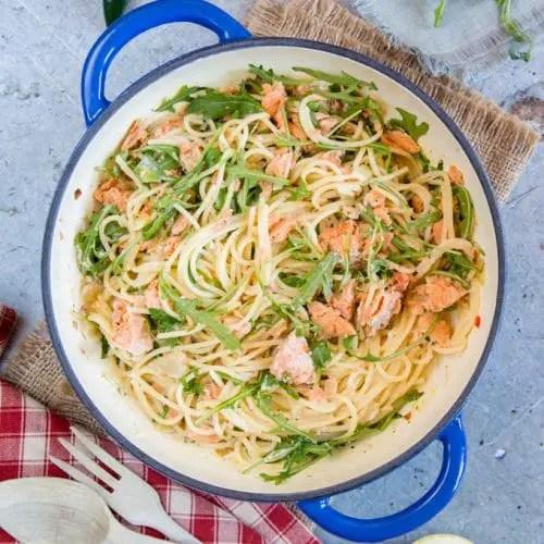 Quick and Easy Salmon and broccoli pasta – Recipe 1