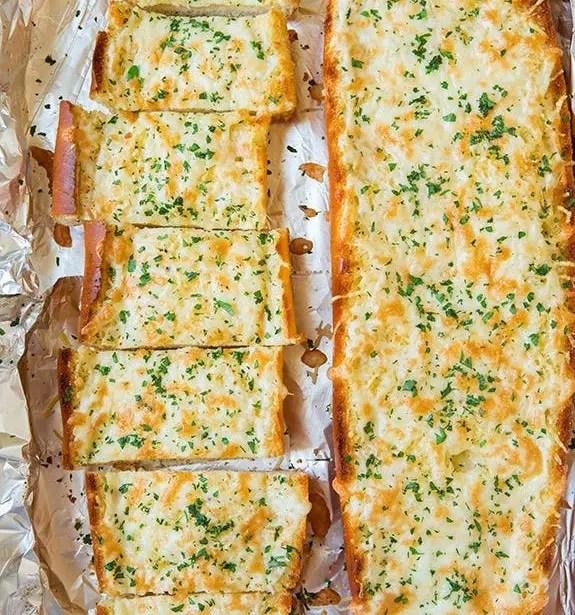 Homemade garlic bread food recipes