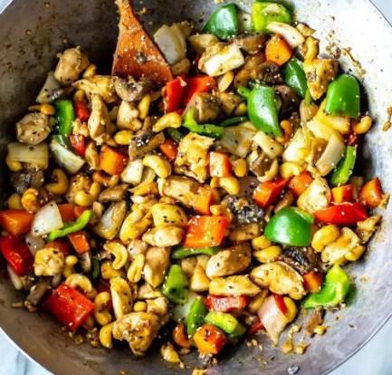 healthy Chicken cashew stir-fry recipe