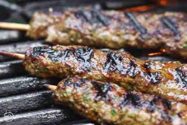 Beef mince kebabs food recipes