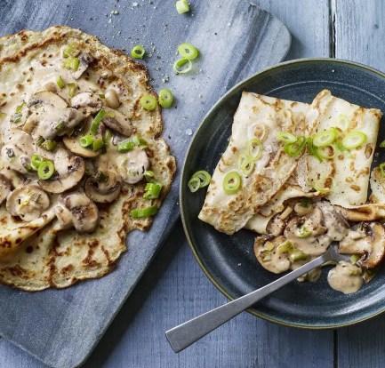 Creamy mushroom pancakes – Recipe 2