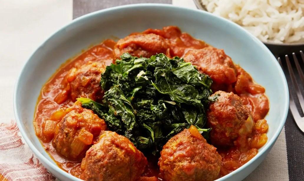 Slow cooker meatballs in tomato sauce – Recipe 1