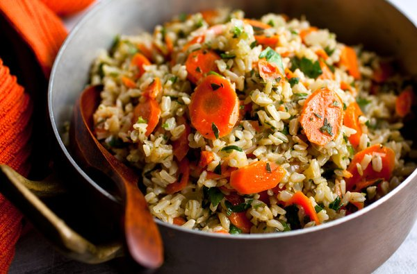 Microwave carrot and ginger rice food recipes