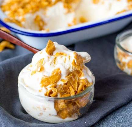 Honey nut cornflake ice cream – Recipe 2
