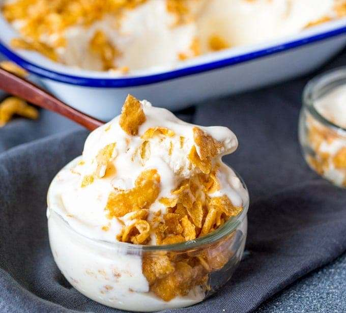 Honey nut cornflake ice cream – Recipe 1