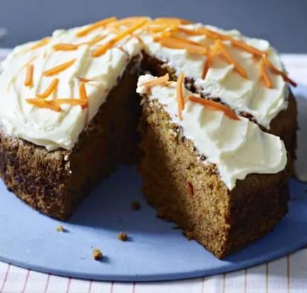 Reduced-sugar carrot cake – Recipe 1