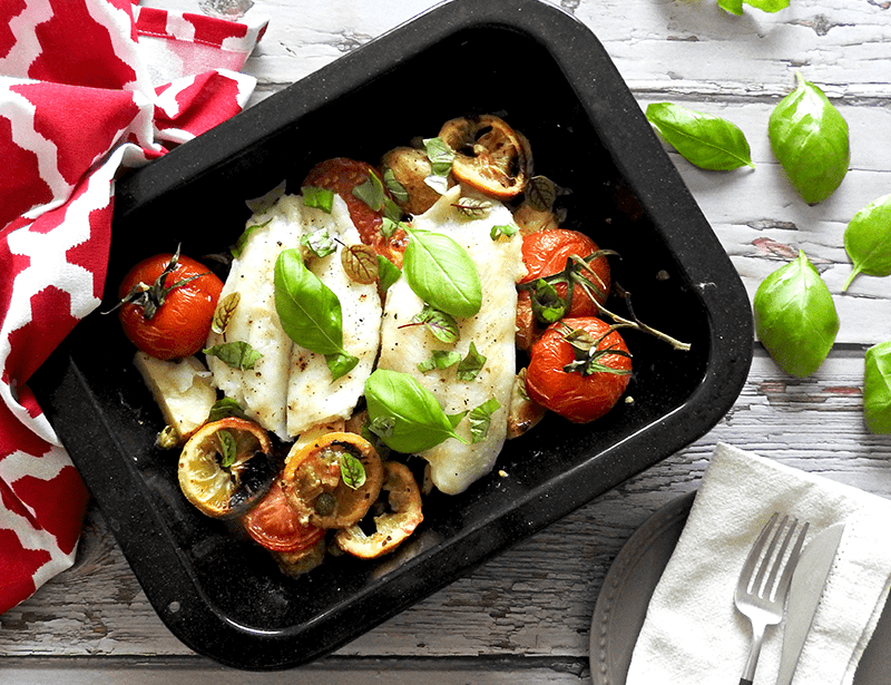 Roasted tomato with Mediterranean vegetables 1