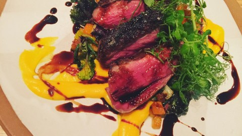 Faro's dry-aged duck breast with farro is hard to resist.