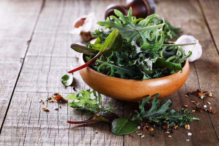 bowl of leafy greens