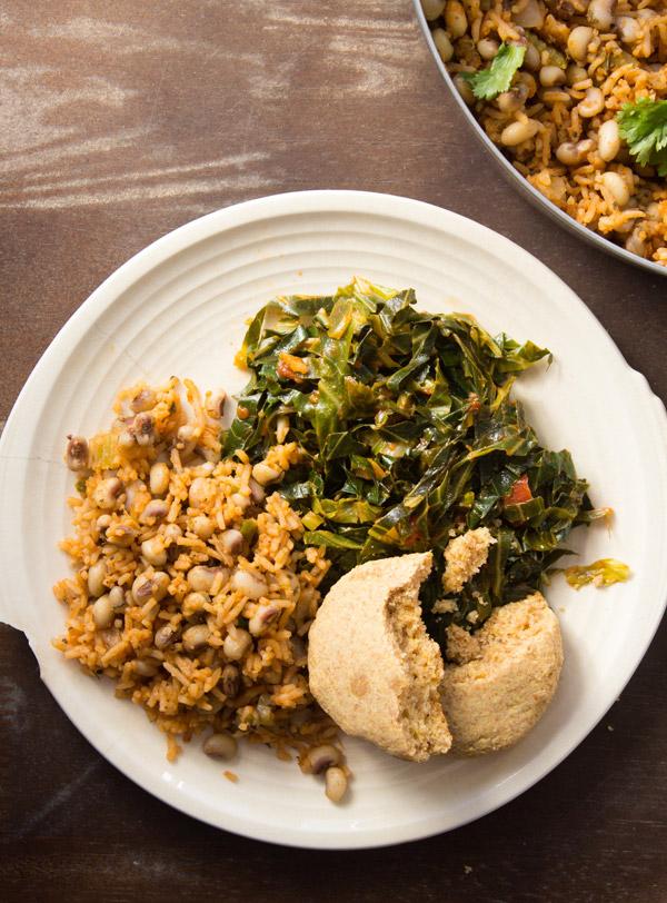 南部豆類和大米