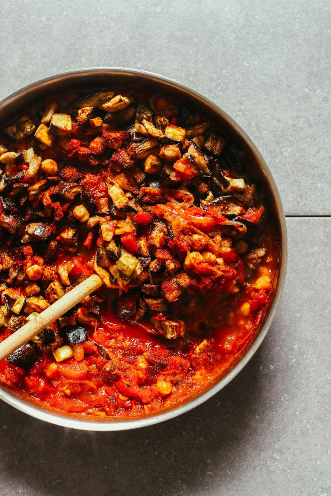 摩洛哥五香烤茄子番茄燉