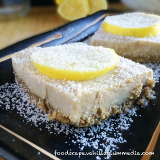 raw lemon bars with chia seeds