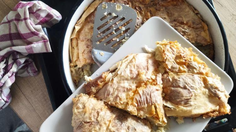 recipe with phyllo dough