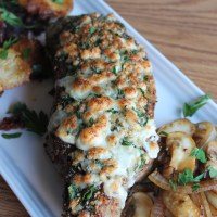 Free-for-All Friday: Blue-Cheese Crusted Steak with Crispy Smashed Potatoes