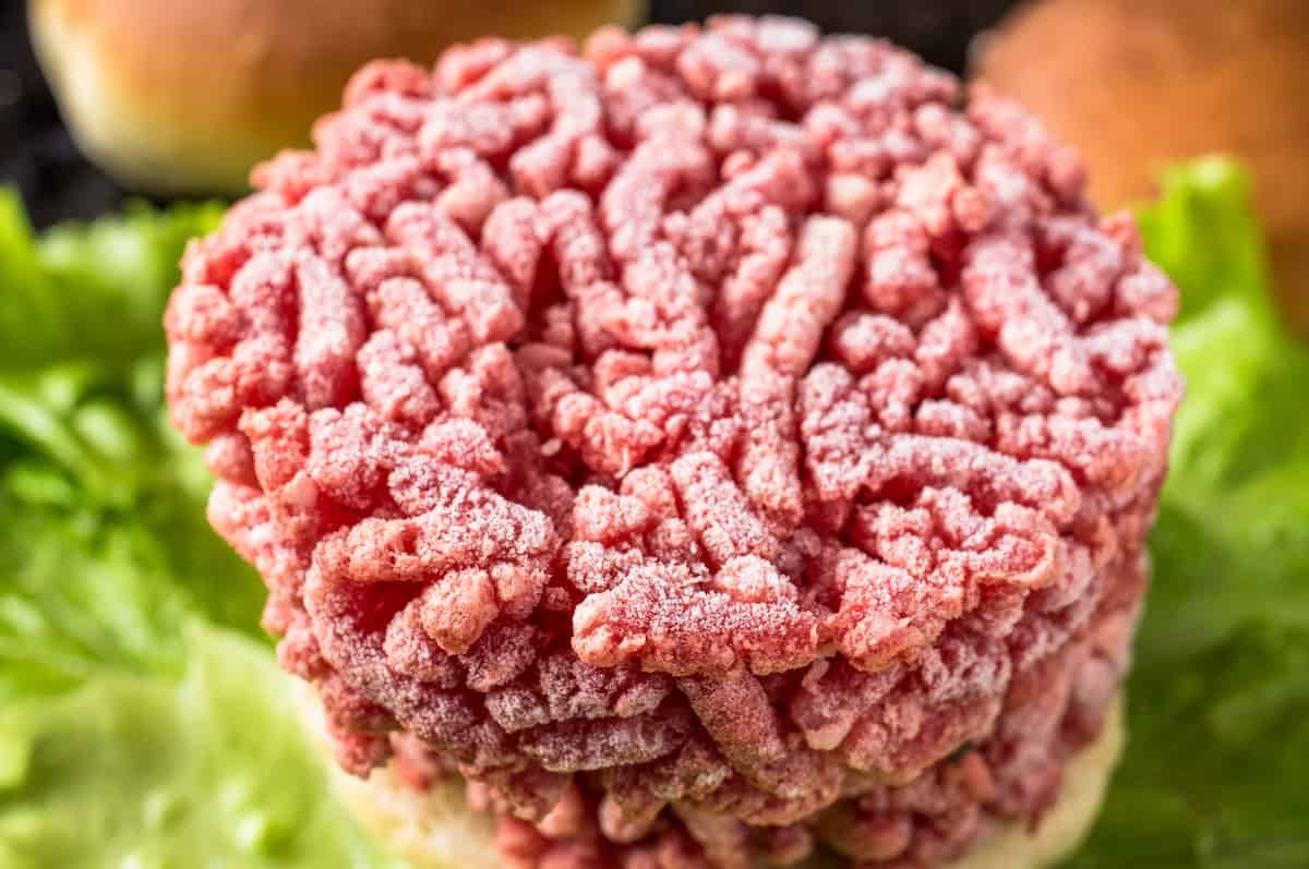can you cook frozen ground beef the