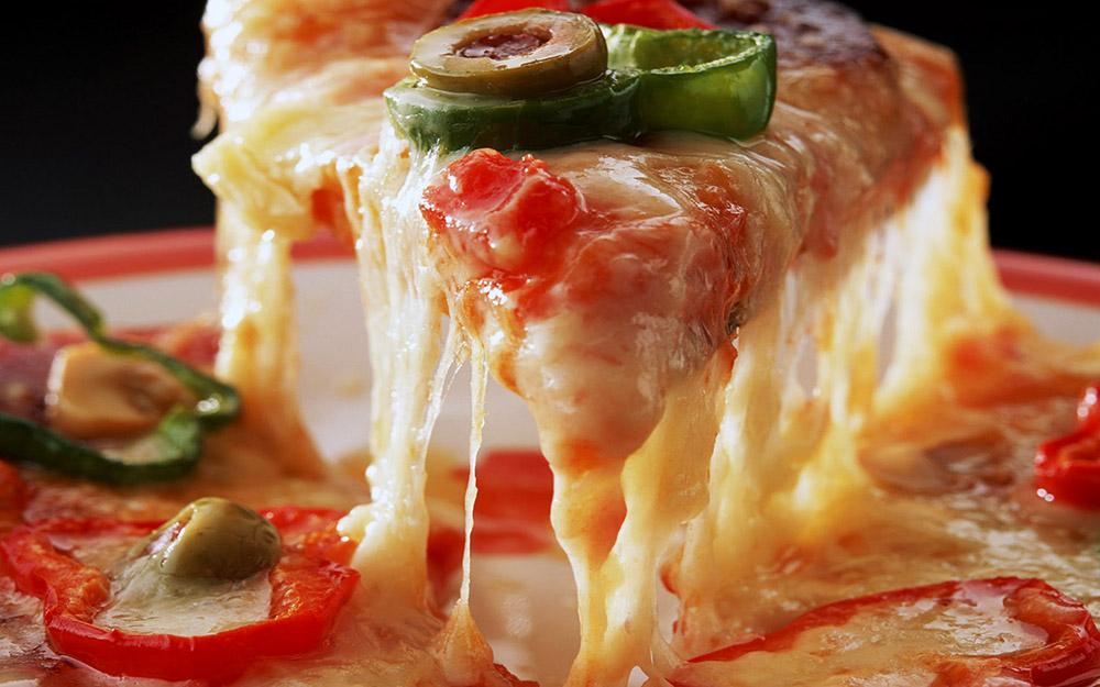 Vegetarian pan pizza