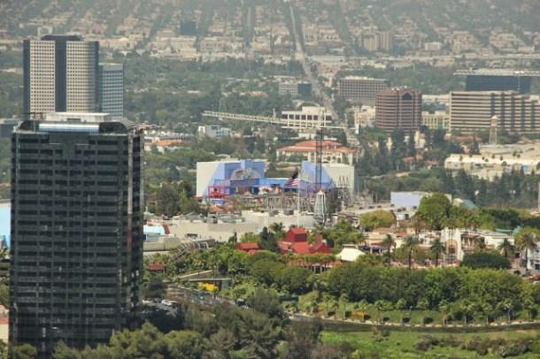 Universal Studios von oben - Mulholland Drive