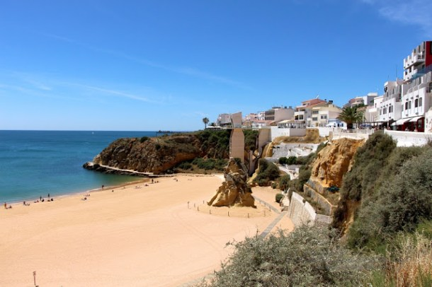Strand von Albufeira, Algarve, Portugal, Europe